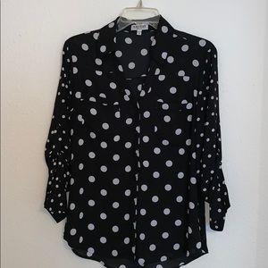 Express Polkadot Portofino Shirt